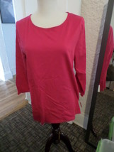 TALBOTS COTTON TIE BACK TEE TOP PINK NWT MISSES M - $20.57