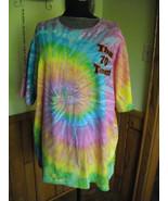 Vintage Tie Dye Tee Shirt Multi Color Unisex Heavy Weight Preshrunk Cott... - $9.50