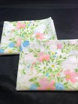 Vintage JC Penney Standard Size Floral Pastel Pillowcases - $19.75