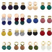 Fashion Statement Earrings Black White Gold Round Circle Geometric Earri... - $2.10+
