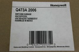 Honeywell Q473A2006 Switching Subbase Heat/off/cool U/WT651A2XXX Thermostat New image 2