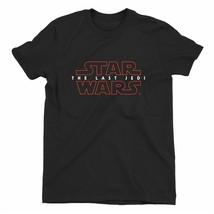 Star Wars The Last Jedi Movie Logo Children's Unisex Black T-Shirt - $14.49