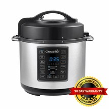 Crock-Pot® - Express 6-Quart Pressure Slow Cooker Programmable Stainless... - $58.40