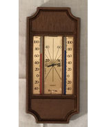 Vintage Tru-Temp Wooden Look Weather Station Indoor/Outdoor Humidity NOS - $10.68