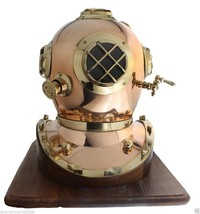 "NauticalMart 16"" US Navy Diving Divers Helmet With Wooden Base   - $299.00"