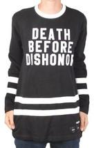40 OZ Forty Ounce NYC Men's Black Dishonor Flatback Sweater Sweatshirt NWT