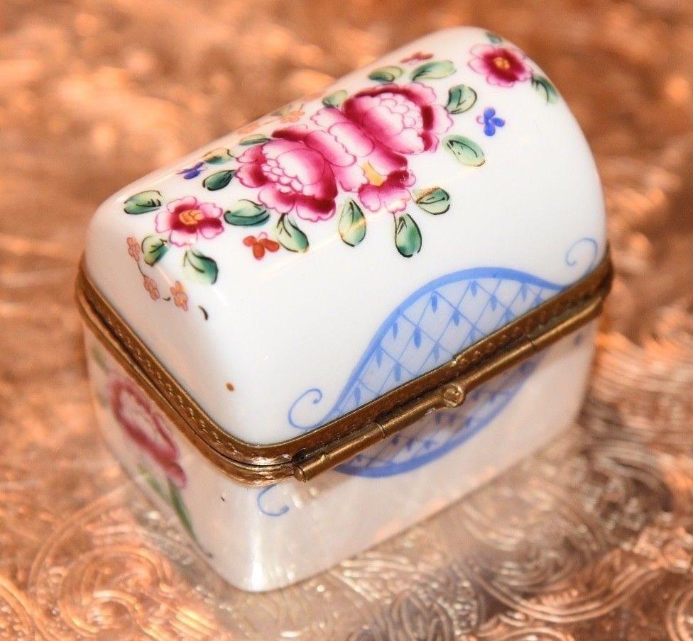 Lipstick Limoges Style Trinket Box Avon New