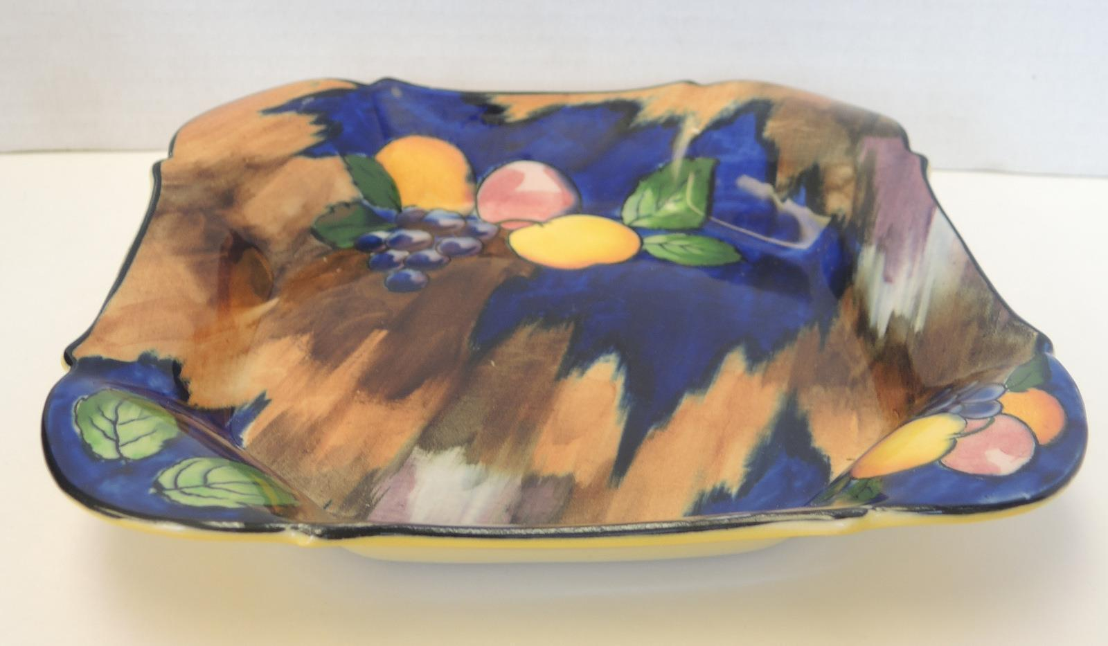 Primary image for 1930s H & K Tunstall Autumn Delicious Dozen Square Bowl