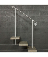 4 Foot Steel Stair Railing Handrail | In-Ground Posts | Iron Grab Rail Rail - $120.00