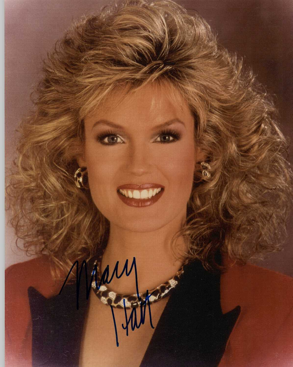 Primary image for Mary Hart Signed Autographed Glossy 8x10 Photo