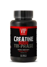 creatine tablets - Creatine Tri-Phase 5000mg - workout energy supplement 1B - $14.92