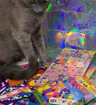 $22UPS1Day/$6USPS LISA FRANK Easter Puzzle Sealed stickers Rollouts Stamp Kitty image 9