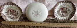 Tea Plates Staffordshire HERITAGE HALL Saucer C... - $12.20