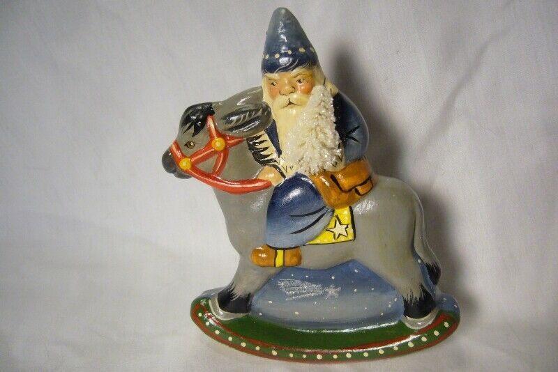 Vaillancourt Folk Art , 30th Starlight Santa Signed by