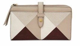New Fossil Women Fiona Leather Tab Clutch Variety Color - $66.99