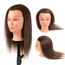 """16"""" Mannequin Head 40% Real Human Hair Cosmetology Mannequins for Traini... - $31.34"""