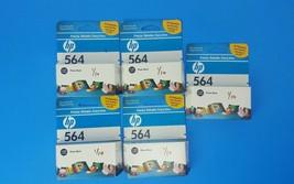 Hp 564 Photo Black Lot of 5 Ink Cartridge - $16.23