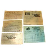 5 1890-1901 Cleveland OHIO Billhead Document Receipts Wool Knit Worsted ... - $13.99