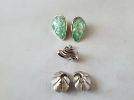 Lisner & Tara Vintage Signed Earrings & Bonus Clip On Unbranded Fashion ... - $27.89