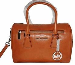 Michael Kors Sophie Cedar Brown Large Top Zip Leather Satchel image 2
