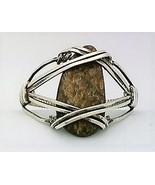 Ammonite Silver Wire Wrap Ring sz 9 - $36.00