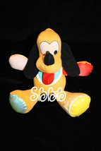 "Disney BABY PLUTO 11"" Dog Rattle Plush Toy Lovey Vtg 1990 Mattel Stuffed... - $15.40"