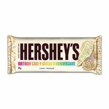4x Hershey's Birthday Cake Candy Chocolate Bar Special Edition 39g Canada FRESH - $15.79