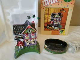 Dept 56: M&M's HAUNTED HOUSE TOURS--Lighted House & Candy Dish 2004  - £16.50 GBP