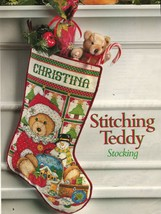 Cross Stitch Santa Teddy Bear Stocking Xmas Ornaments King of the Grill ... - $9.99