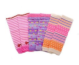 Baby Cotton Socks Baby Leggings Comfy Leg Guards,3 Sets£¨Pink and Purple)