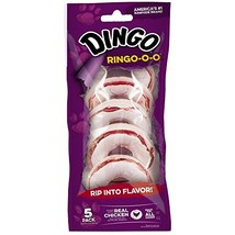 Dingo Ringo-O-O Rawhide Treat For All Dogs, 5-Count - $13.37
