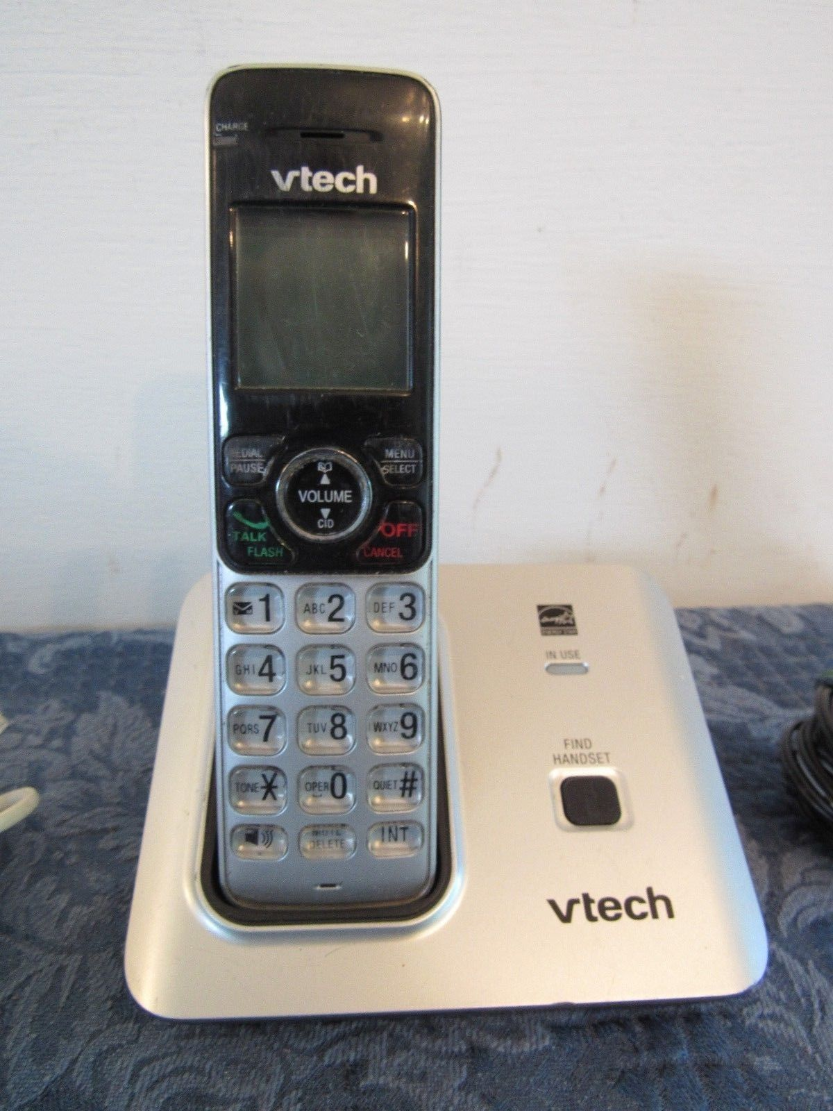 Vtech Cordless Phone System CS6619 + Base & Power Adapter Replacement