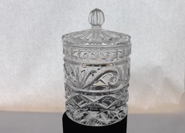 Clear Glass Swirls and Leaf Covered Cotton Ball Jar - $14.99