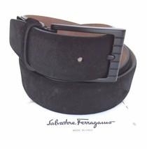 Salvatore Ferragamo Men's Tone-On-Tone Square Buckle Leather Belt Size 38  - $246.51