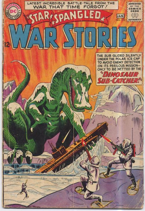 DC 1963 STAR SPANGLED WAR STORIES #112 DINOSAUR ISSUE Military Adventure Action