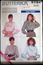 Sewing Pattern Butterick 5757 Tops/Blouses sz 6-8-10 sewing pattern - $9.99