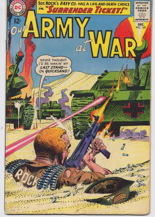 DC Our Army At War #149 Easy Company Sgt. Rock Action War Military Adventure