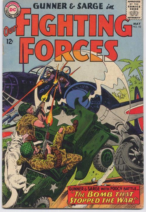 DC Our Fighting Forces #92 Gunner &  Sarge War Action Adventure Army