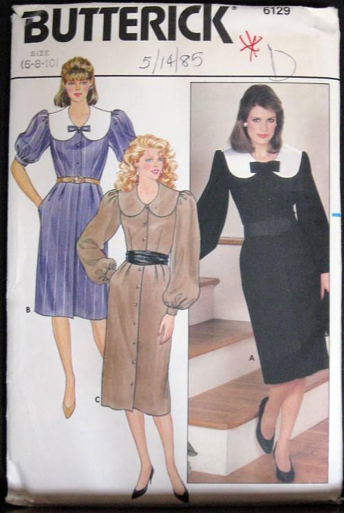 Sewing Pattern Butterick 6129 Misses Dress sz 6-8-10 sewing pattern