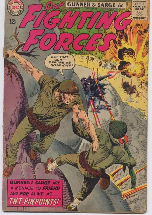 DC Our Fighting Forces #85 Gunner Sarge War Action Adventure Army