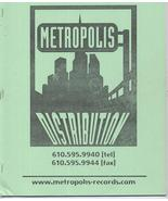 Metropolis Distribution Record Catalog Age Of Heaven Music Tunes Artists - $4.76