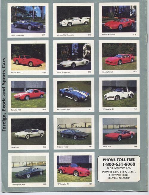 Power Graphics 1988 Classics Automobile  Print Collection