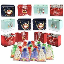 32 Count Christmas Gift Large Bags Bulk Set Wrapping Holiday Assorted Sh... - $20.75