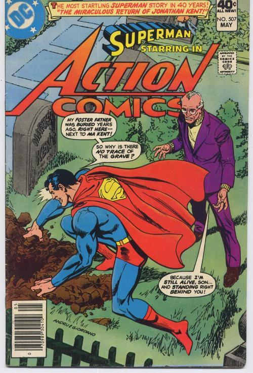 DC Action Comics #507 Superman Lois Lane Metropolis Smallville Kents  Clark Kent