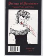 Dreams Of Decadence #4 Vampire Gothic Poetry Fiction Emo Horror Terror - $9.56