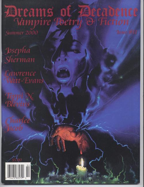 Dreams Of Decadence #11 Vampire Gothic Poetry Fiction Lawrence Witt Evans