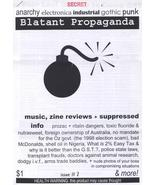 Blatant Propaganda #2 Anarchy Electronica Industrial Alternative Music - $5.56