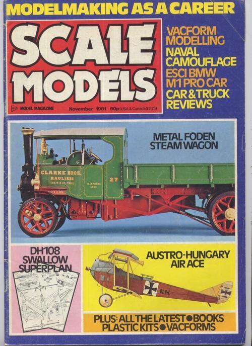 Scale models nov 1981
