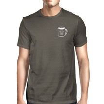 Coffee For Life Pocket Mens Cool Grey Tees Funny Typographic Tee - $14.99