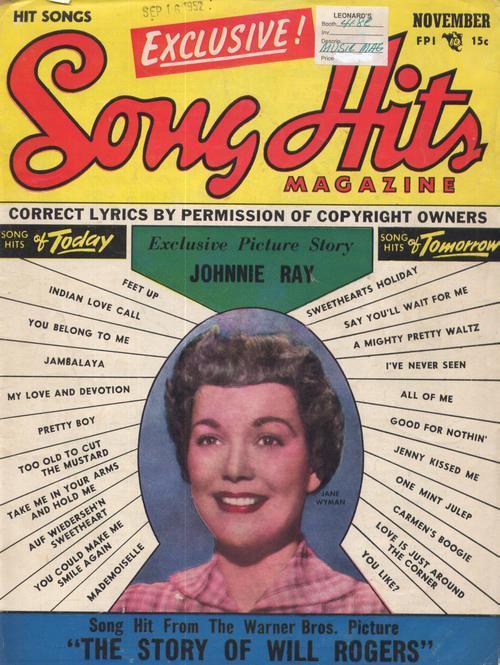 Song hits nov 1952